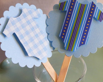 Cupcake Toppers  Baby Clothes
