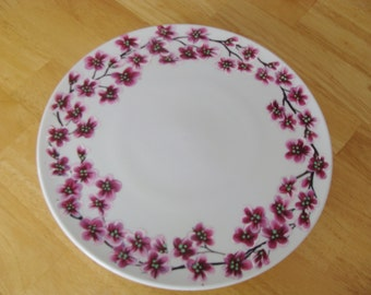 Cherry Blossom Cake Stand Hand Painted