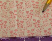 Dollhouse Miniature Victorian UPHOLSTERY FABRIC Rose Pink Floral on White Playscale 1/24th 1/12th