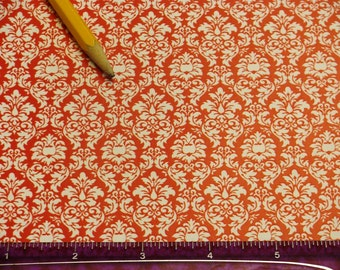 Dollhouse Miniature Victorian WALLPAPER Red White Damask