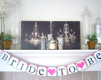 Bridal Shower banner, Bride to be banner, wedding banner, bridal shower, decorations, wedding banners