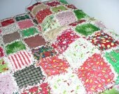 Custom Made by Ashlawnfarms 1 Standard Size Pillow Sham Rag Quilt Made to Order