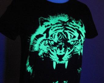 Tiger Glow in the Dark Ladies Tees Size S M L, XL & 2XL