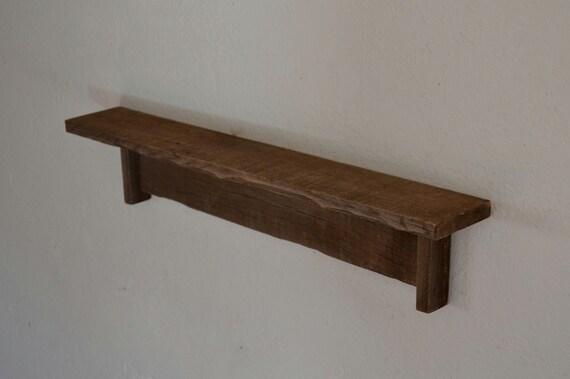 rustic reclaimed wall shelf barnwood 24 inch. Black Bedroom Furniture Sets. Home Design Ideas