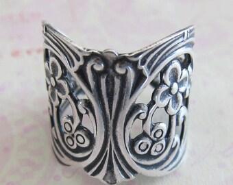 Adjustable Silver Filigree Ring 2783