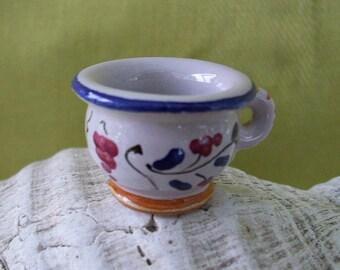 Miniature Glazed Terra Cotta Cup - Promotional Piece