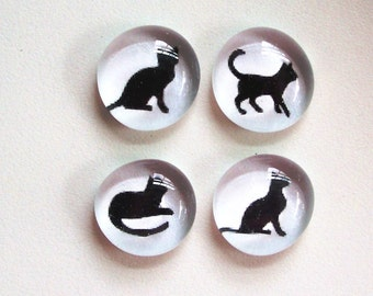 Good Kitty- Glass Magnets or Push Pins
