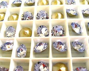 12 Provence Lavender Swarovski Crystal Chaton Stone 1088 39ss 8mm