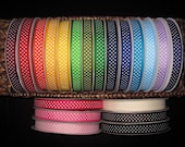 """5/8"""" Swiss Dot Grosgrain Ribbon--5 yards--20 Colors to Choose from--You Choose Color"""