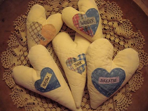 Handsewed Inspirational Lavender Bud Heart Bowl Fillers