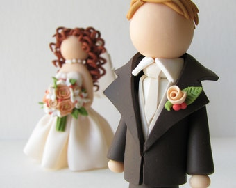 Custom Bride & Groom Wedding Cake Toppers DEPOSIT