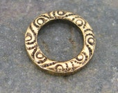 New - Brass Ring Connector Link Antique Gold Jewelry Findings 322 - 6 pieces