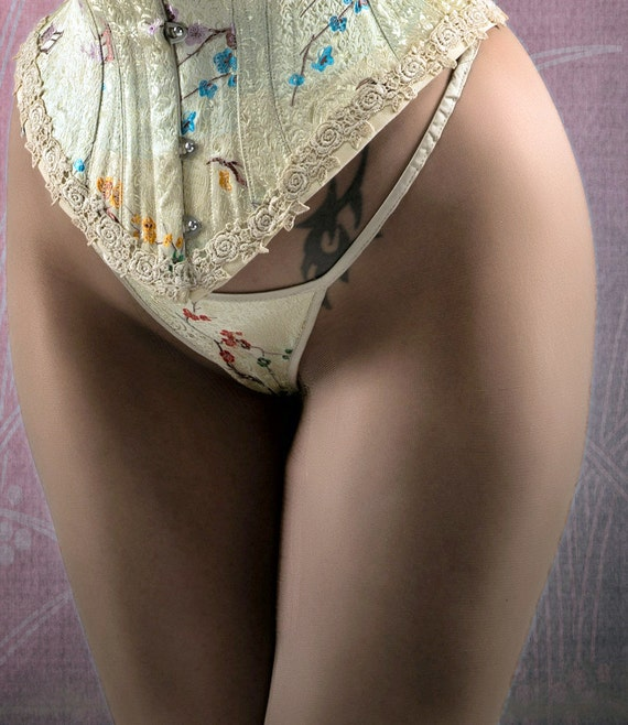 G-String - Underwear- Silk, Lingerie Set, lingerie-Thong undies- Coordinate with Corset