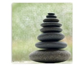 Stacked Stone Photograph 10X10 Print...Affordable Art Meditative Calming Zen Stones Rocks Stacked Rocks Stacked Stones Tribal Meditation - machelspencePHOTO