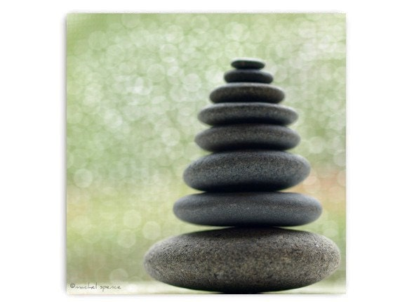 Stacked Stone Photograph Print...Affordable Art Meditative Calming Zen Stones Rocks Stacked Rocks Stacked Stones Tribal Meditation