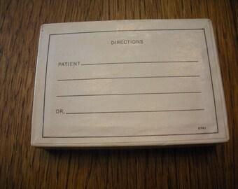 Vintage Pharmacy Paper Prescription Box