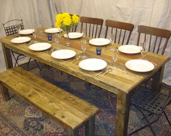 """Driftwood Table  (80""""L x 38""""W x 29""""H) with Poly Finish"""