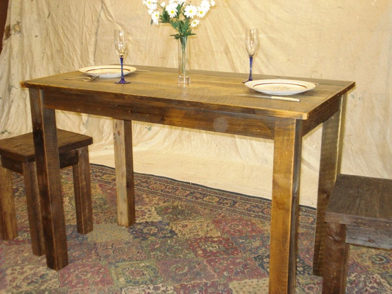 Counter Height Farm Table : Farmhouse Counter Height Table 50 x 30 x 36H by DriftwoodTreasures