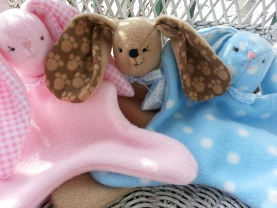 Lovey Dovey Softie--Pink Bunny