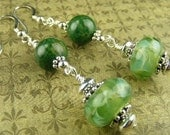 African Green Jade Earrings (Rainforest) Safari Collection by Gonet Jewelry Design