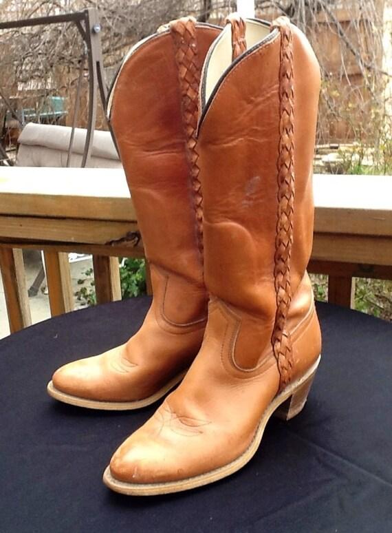 vintage capezio west womens size 6 cowboy boots by