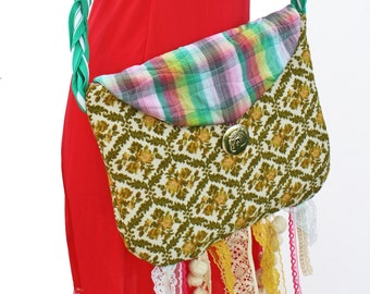 Hippe Fringe Purse - Eclectic with Sling Strap