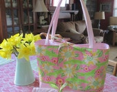 Fashion Diaper Tote made with Lilly Pulitzer Fabric REDUCED