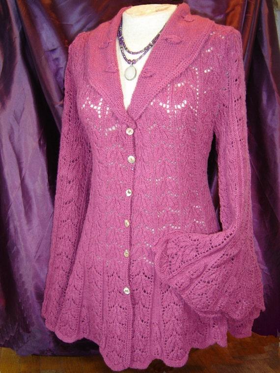 Knitting Pattern Lace Jacket : Heirloom Lace jacket Knitting Pattern-PDF