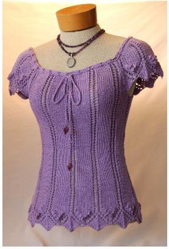Stephanie Tee Knitting Pattern-PDF