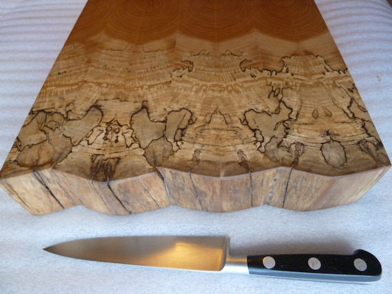 Spalted Sycamore Cheese Board Chopping Block