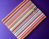 Ipad cover cozy sleeve padded made with paul smith stripes style fabric fits ipad 1 2 3 and tablet or netbook or kindle dx