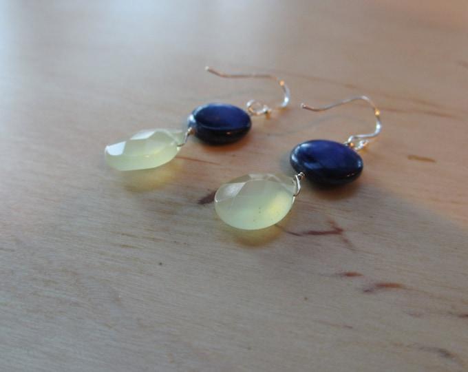 Insouciant Studios Bluet Earrings Sterling Silver Jade