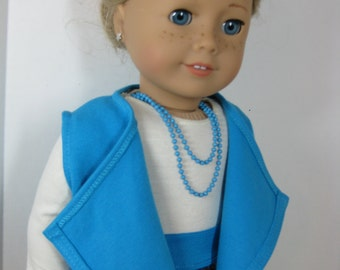 18 inch Doll Clothes Cascade Vest  Outfit by Nayasdesigns