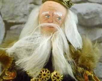 King Lear Shakespeare Miniature Doll Classic Literature Art