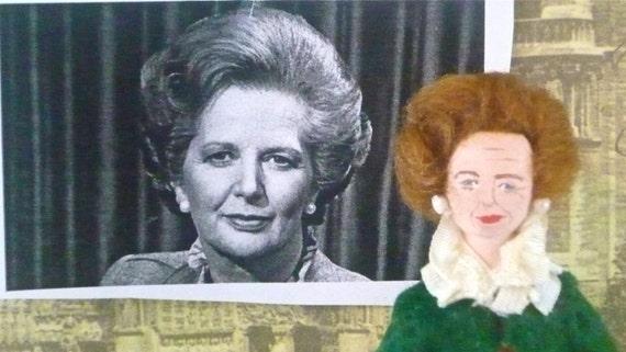 Margaret Thatcher Doll Miniature Historical Art Collectible