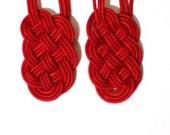 Prosperity Knot earrings in cord for CILOVES