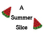 Brick Stitch Earrings Pattern Instant Download Summer Watermelon Slice