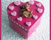 Heart Trinket Box Bear