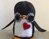 Handmade little felt penguin