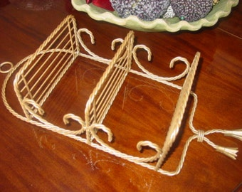 Vintage Italian Twisted Wire Wall Shelf