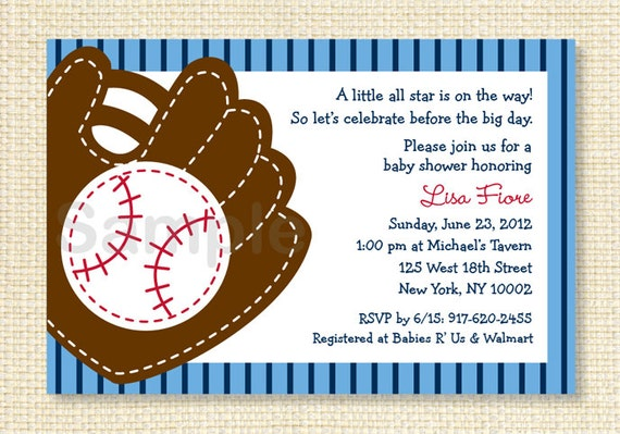baseball baby shower invitation all star sports printable by