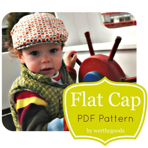 Newsboy Hat PDF Pattern Boys Baby Toddler Flat Cap in 4
