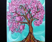 Art Print 11x14 Cherry Twist tree image matted by April Lacheur