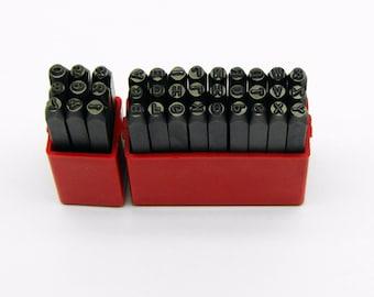 Premium Number & Letter Metal Punch - Stamp 3mm 3 Piece Set - CRV Steel