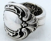 Silver Spoon Ring Size 8 Heritage