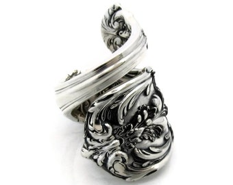 Francis 1 Sterling Silver Spoon Ring Size 7 Heavy