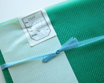 Vintage Veil French Silk Millinery Veil Rocket Green 1 Yard