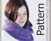 Cables & Lattice Cowl - Crochet Pattern (PDF) - INSTANT DOWNLOAD