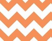 Custom Listing,1/2 yd Riley Blake medium Chevron Orange Fabric, 1 yard