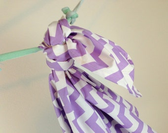 Riley Blake Lavendar Chevron Blanket Swaddler Light: Receiving Blanket